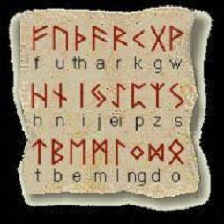 """一种""""如尼文字母对照表"""""""